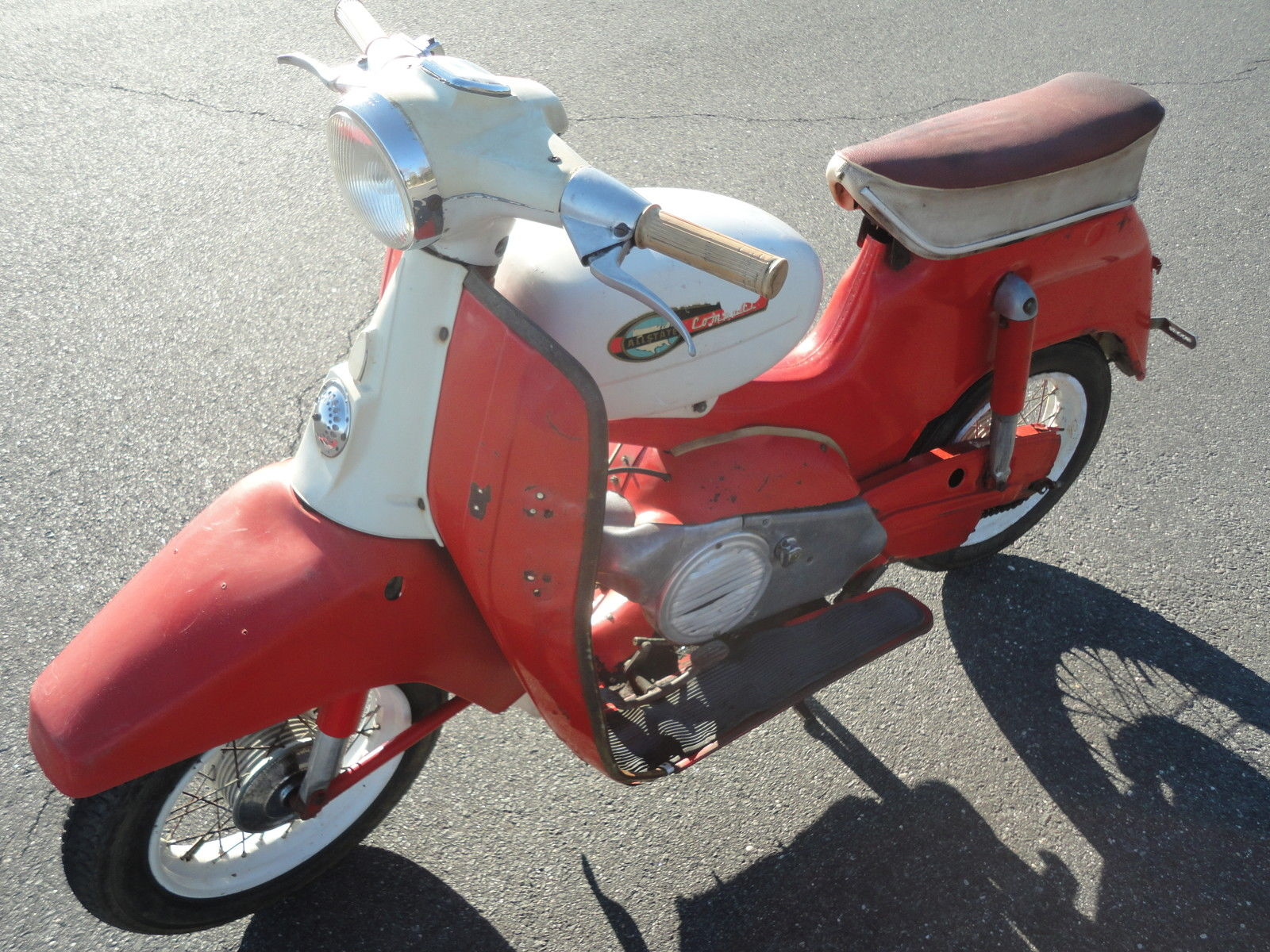 Sears Allstate Compact Puch Motor Scooter 1966 Runs W Title