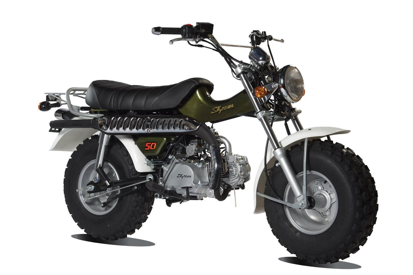 Skyteam T Rex 50 Moped New 50cc Based On Suzuki Rv125 Sand