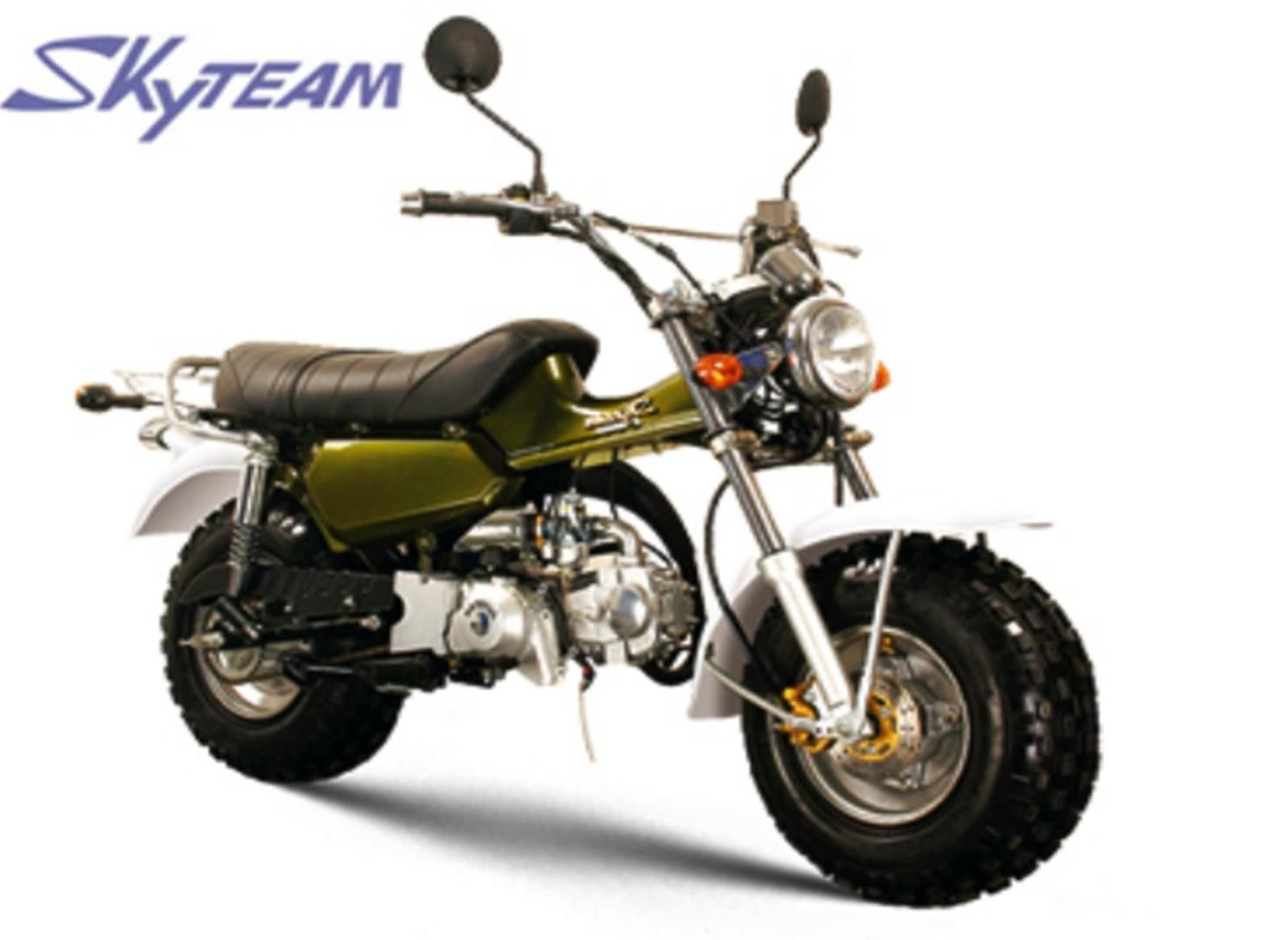 skyteam t rex 50 moped new 50cc based on suzuki rv125 sand. Black Bedroom Furniture Sets. Home Design Ideas
