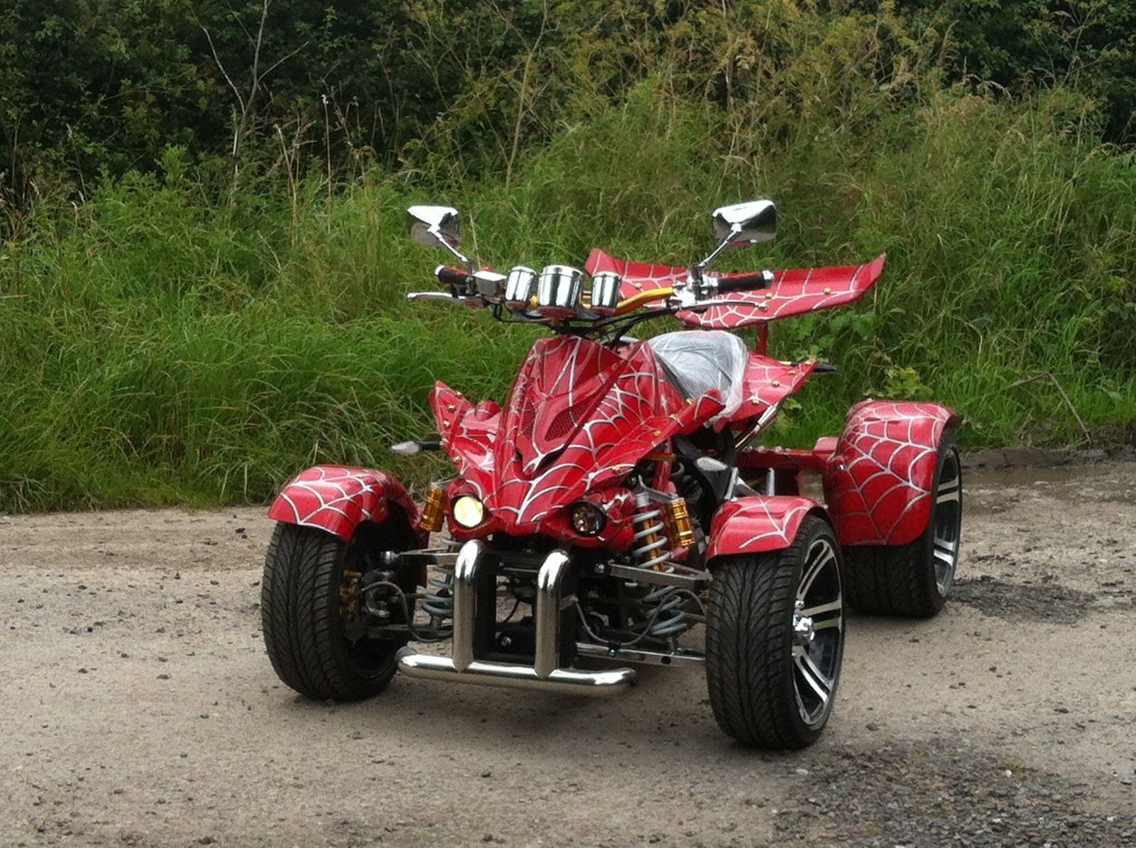 Spy racing 350cc spiderman road legal quad bike brand new un registered - Quad spiderman ...