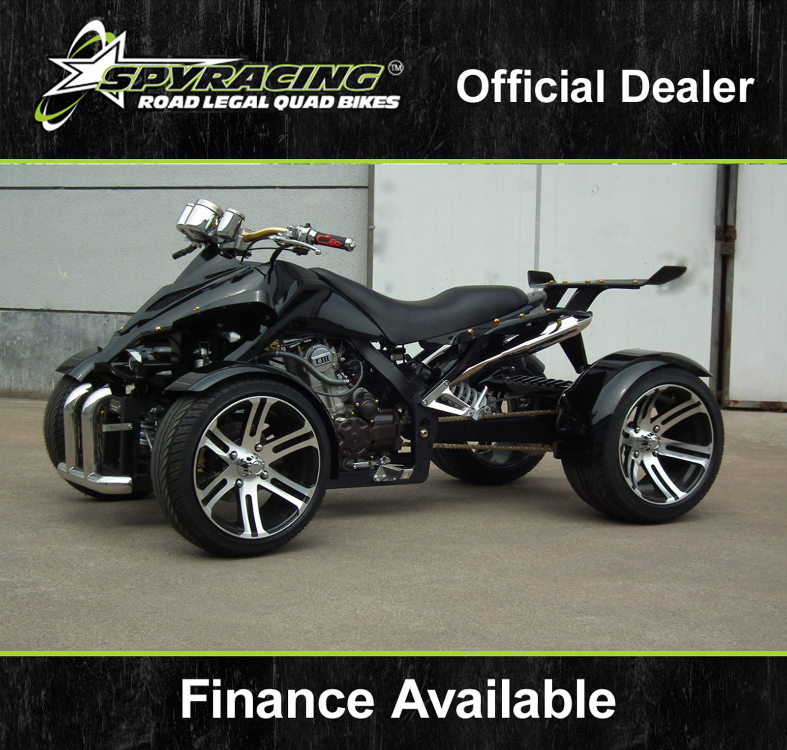 Street Bike Quad: SPYRACING NEW ROAD LEGAL QUAD BIKE RACING ATV BUGGY 350cc