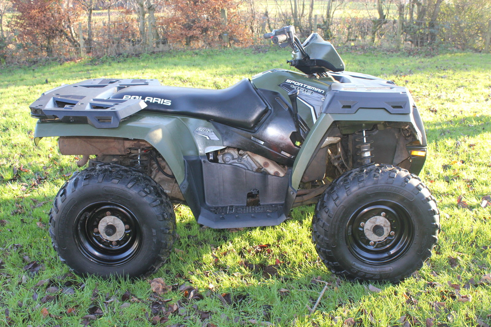 stunning polaris sportsman 400 2012 4wd 4x4 quad atv utv low hours no vat. Black Bedroom Furniture Sets. Home Design Ideas