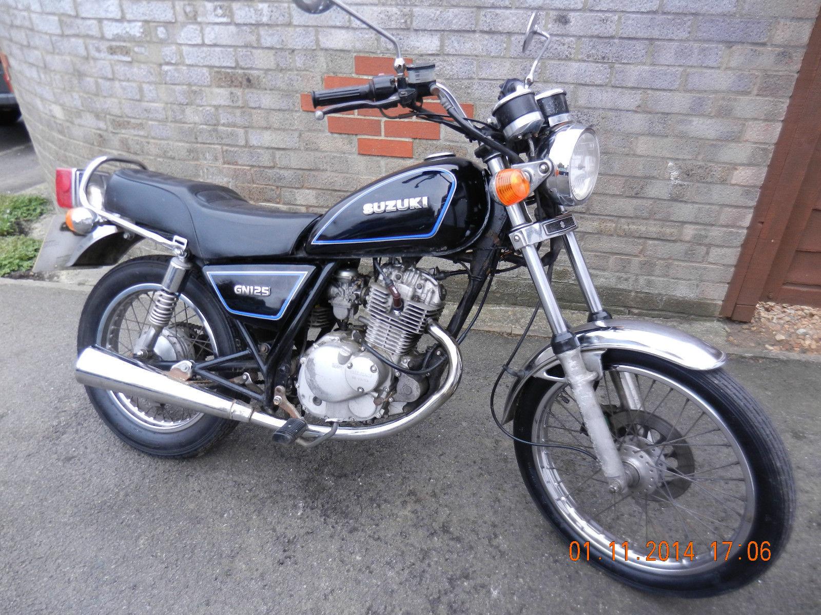 Suzuki Gn125 Gn 125 1994 Classic Learner Restoration Project Brat Bobber Custom