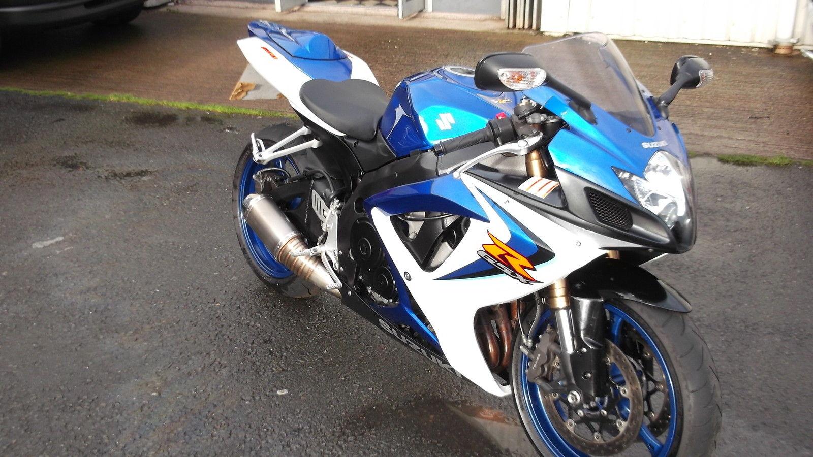 Suzuki Gsxr 600 K6 Blue And White 15092 Miles With Height
