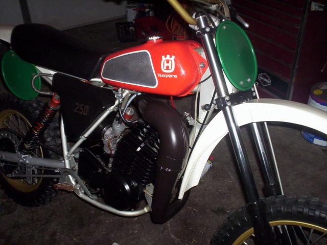 swedish husky husqvarna 1980 250cr motocross racing dirt ...