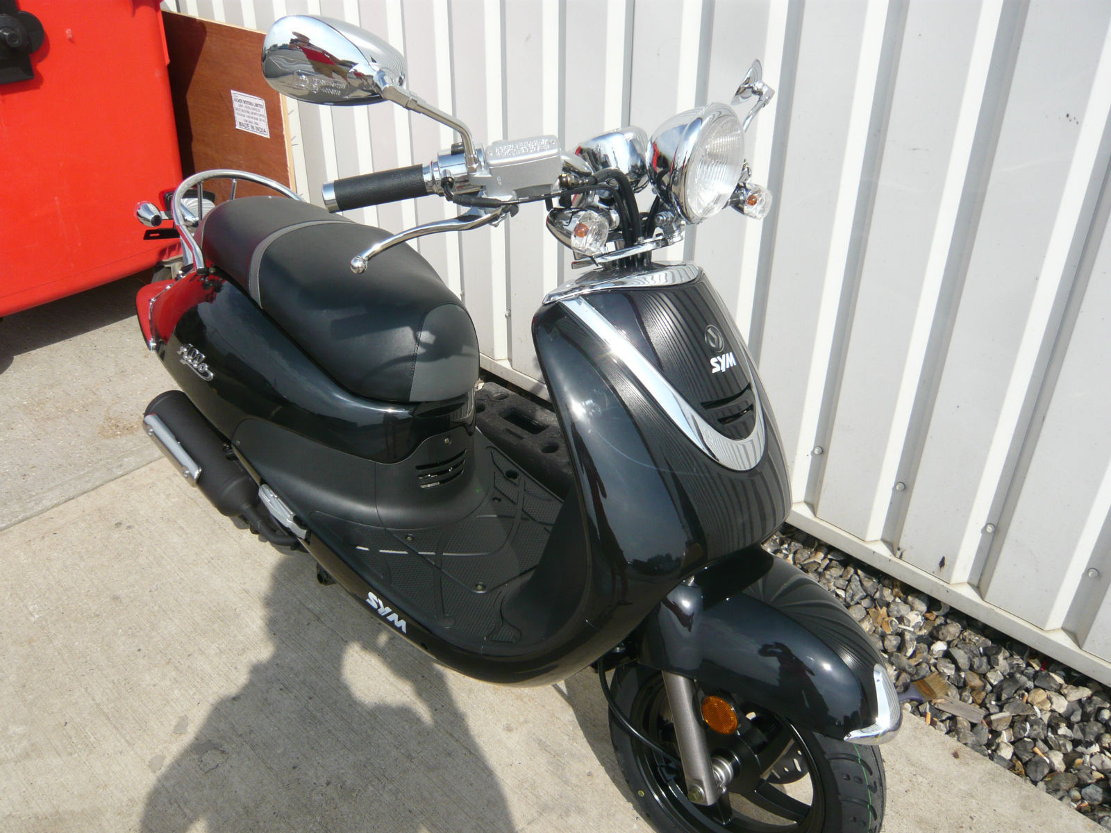 sym allo retro 50cc scooter 2014 brand new. Black Bedroom Furniture Sets. Home Design Ideas