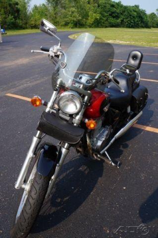 Used 00 Kawasaki Vulcan 500 Ltd Windshield Saddle Bags Passenger