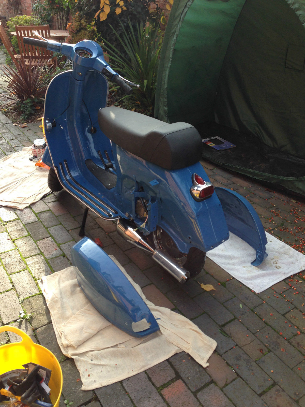 vespa px 125 restored project 99 percent finished reluctant sale 30 yrs old