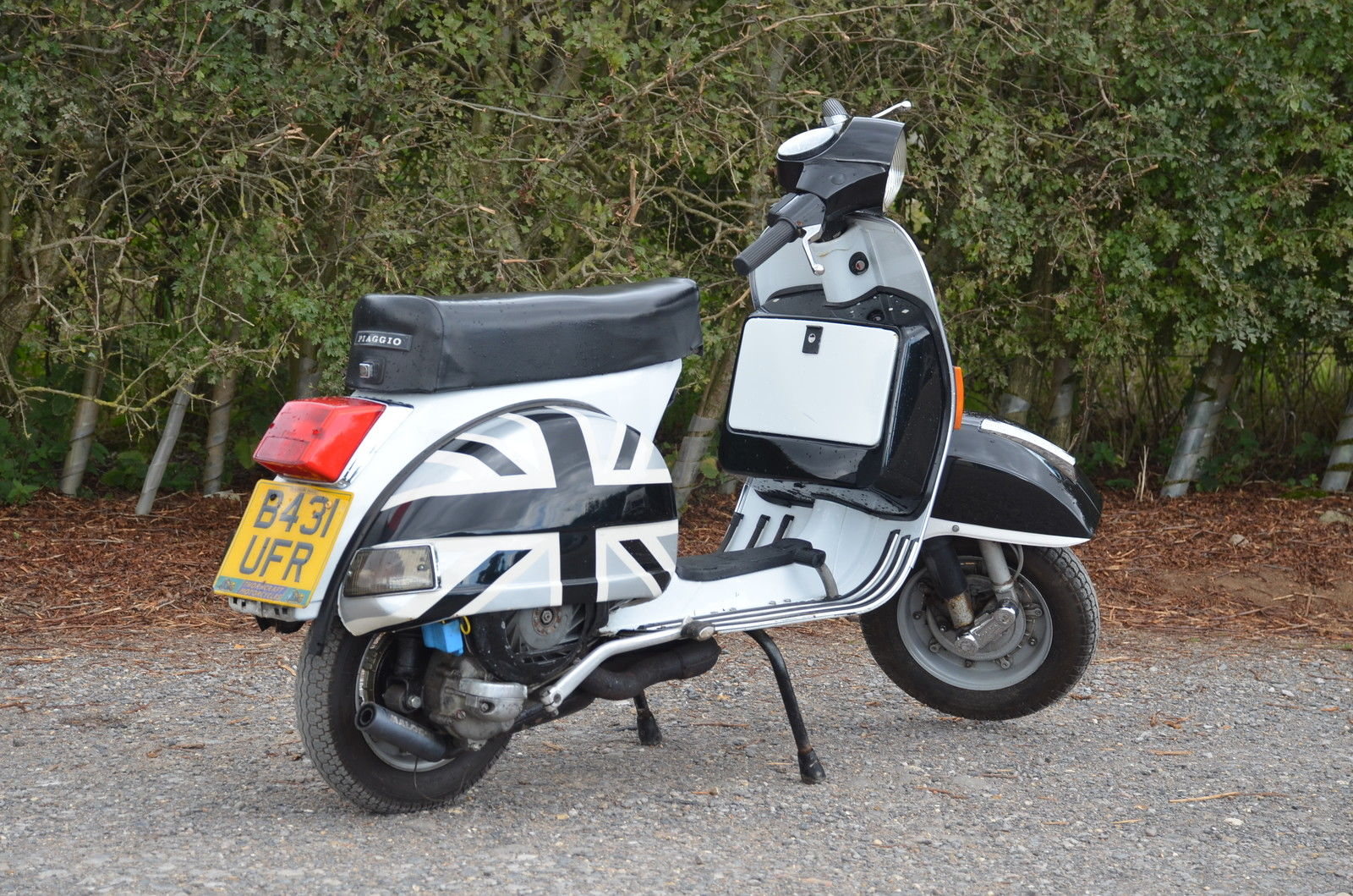 vespa px 125 with malossi 166 kit and exhaust. Black Bedroom Furniture Sets. Home Design Ideas