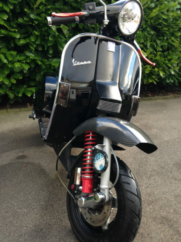 Vespa Px 166 Street Racer In Black Superb Condition