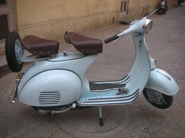 vespa scooter 150 cc fully restored original engine 1964 blue. Black Bedroom Furniture Sets. Home Design Ideas