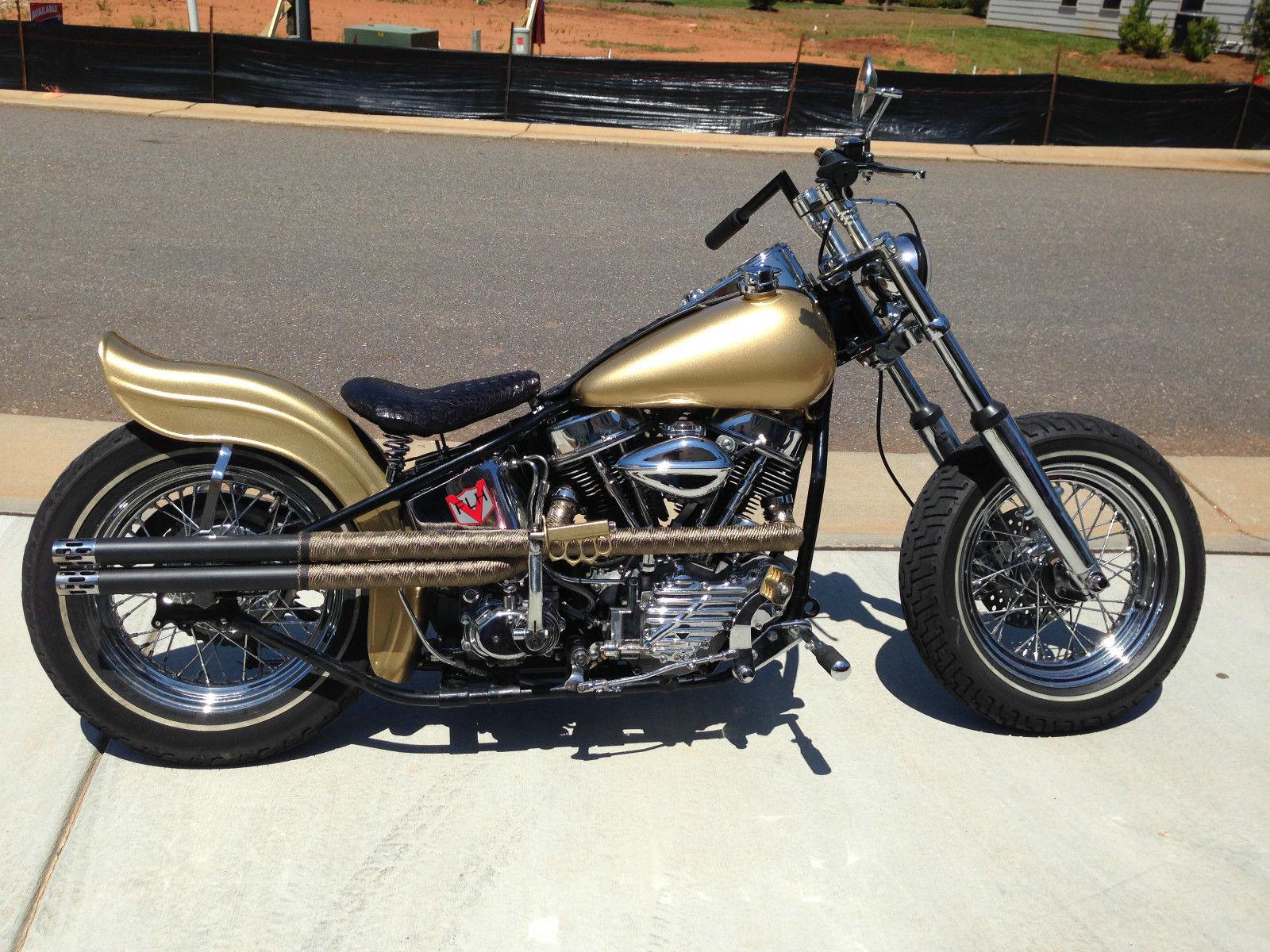 Vintage 1956 Harley Davidson Panhead Hydraglide Bobber