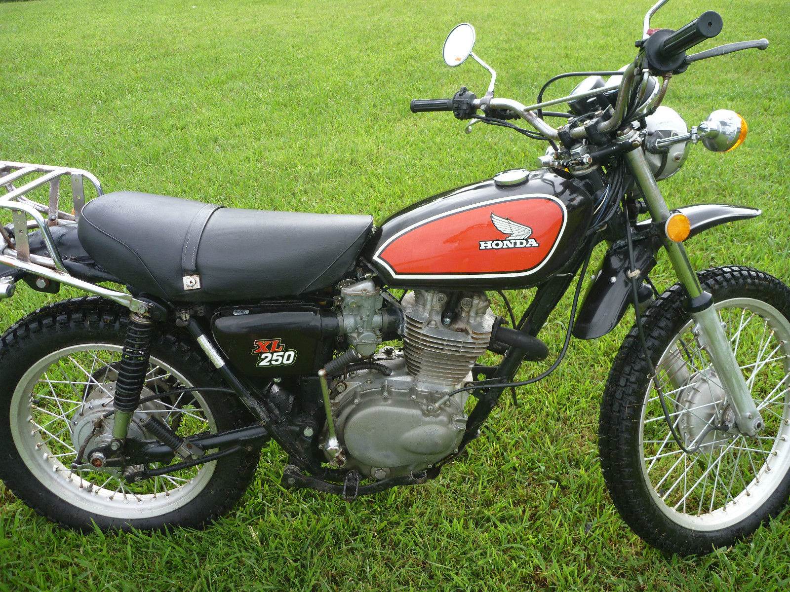 vintage 1975 honda xl 250 enduro motorcycle trail bike. Black Bedroom Furniture Sets. Home Design Ideas