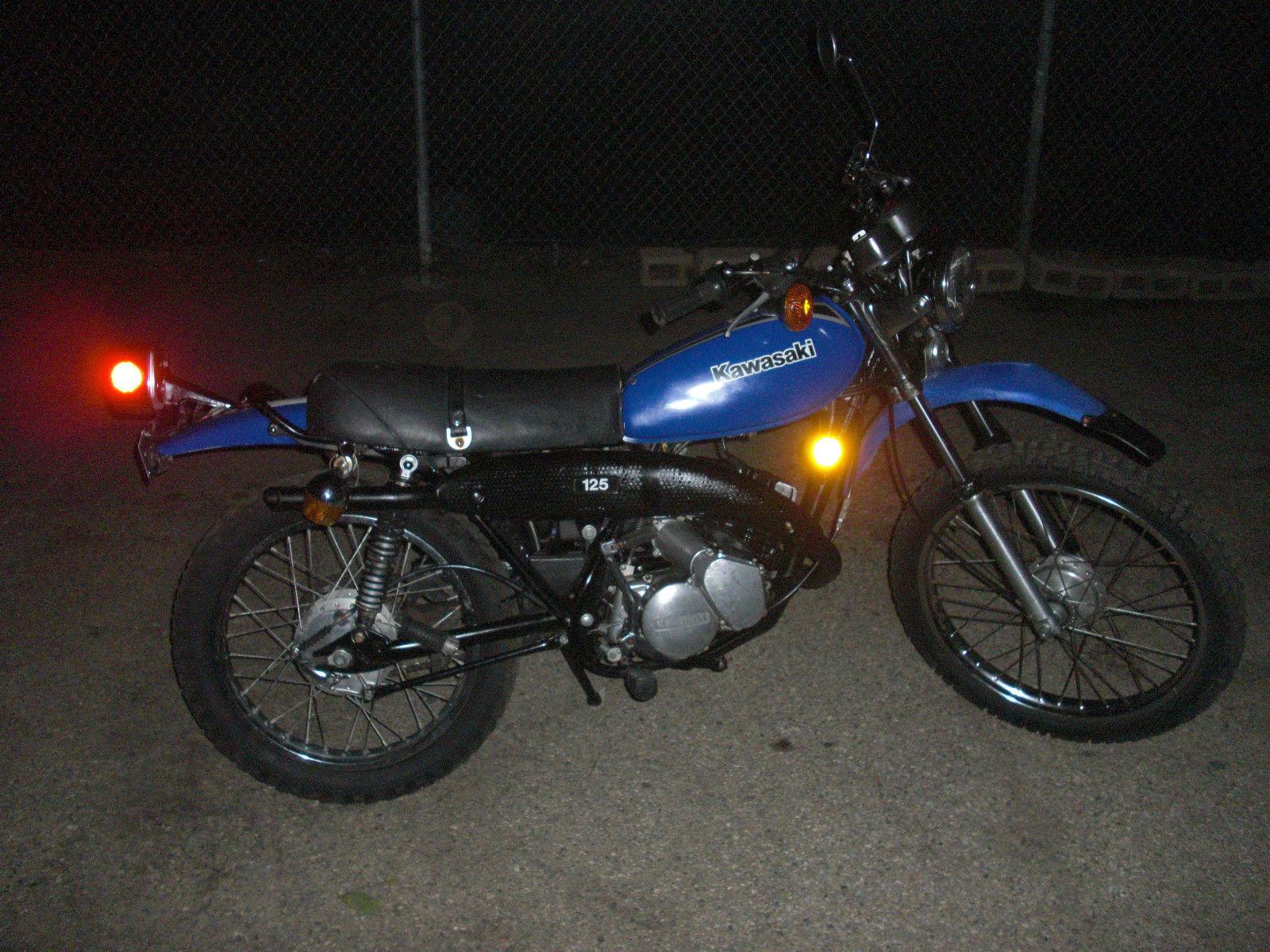 Vintage 1979 Blue Kawasaki Ke 125 Motorcycle Enduro Motor