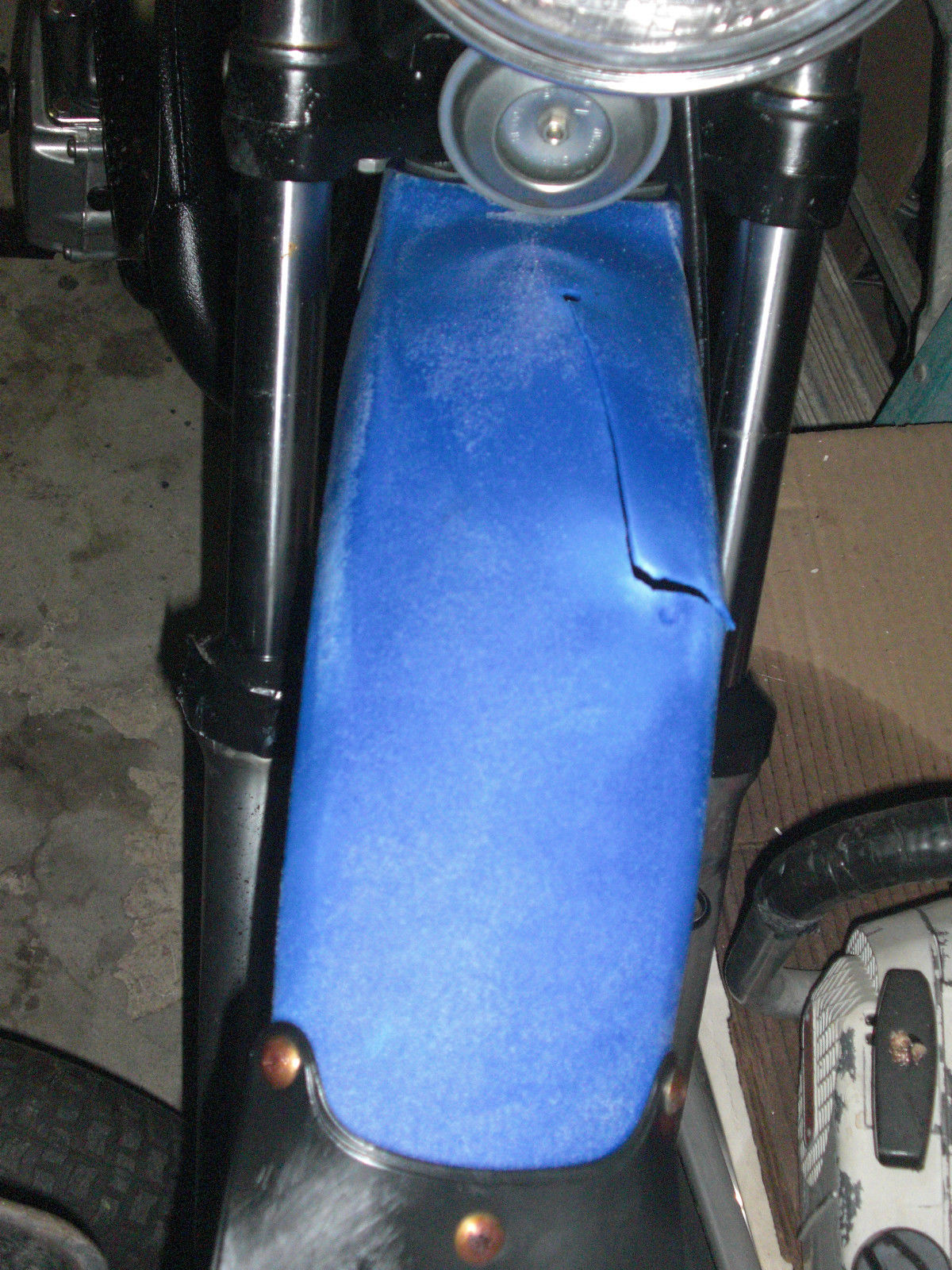 Vintage 1979 Blue Kawasaki Ke 125 Motorcycle Enduro Motor Bike Runs