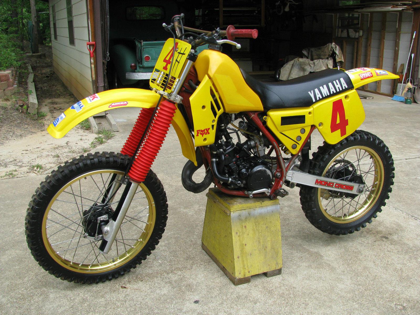 Vintage 1984 Yamaha Yz 125 Motocross Motorcycle