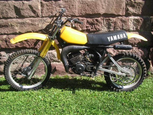 vintage yz125 yz 125 1978 78 yamaha partial restoration armha dirt bike mx. Black Bedroom Furniture Sets. Home Design Ideas