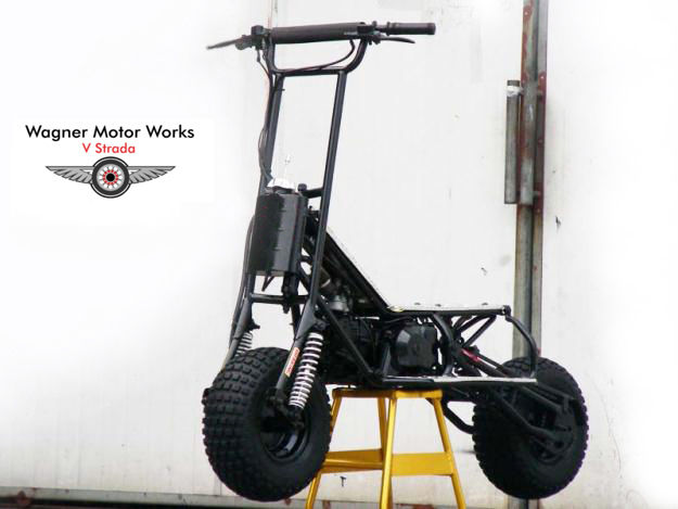 Wagner motor works v strada 150r high performance stand for Stand on scooters with motor