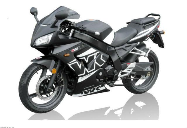 wk sport 125cc motorcycle motorbike sportsbike leaner legal brand new. Black Bedroom Furniture Sets. Home Design Ideas