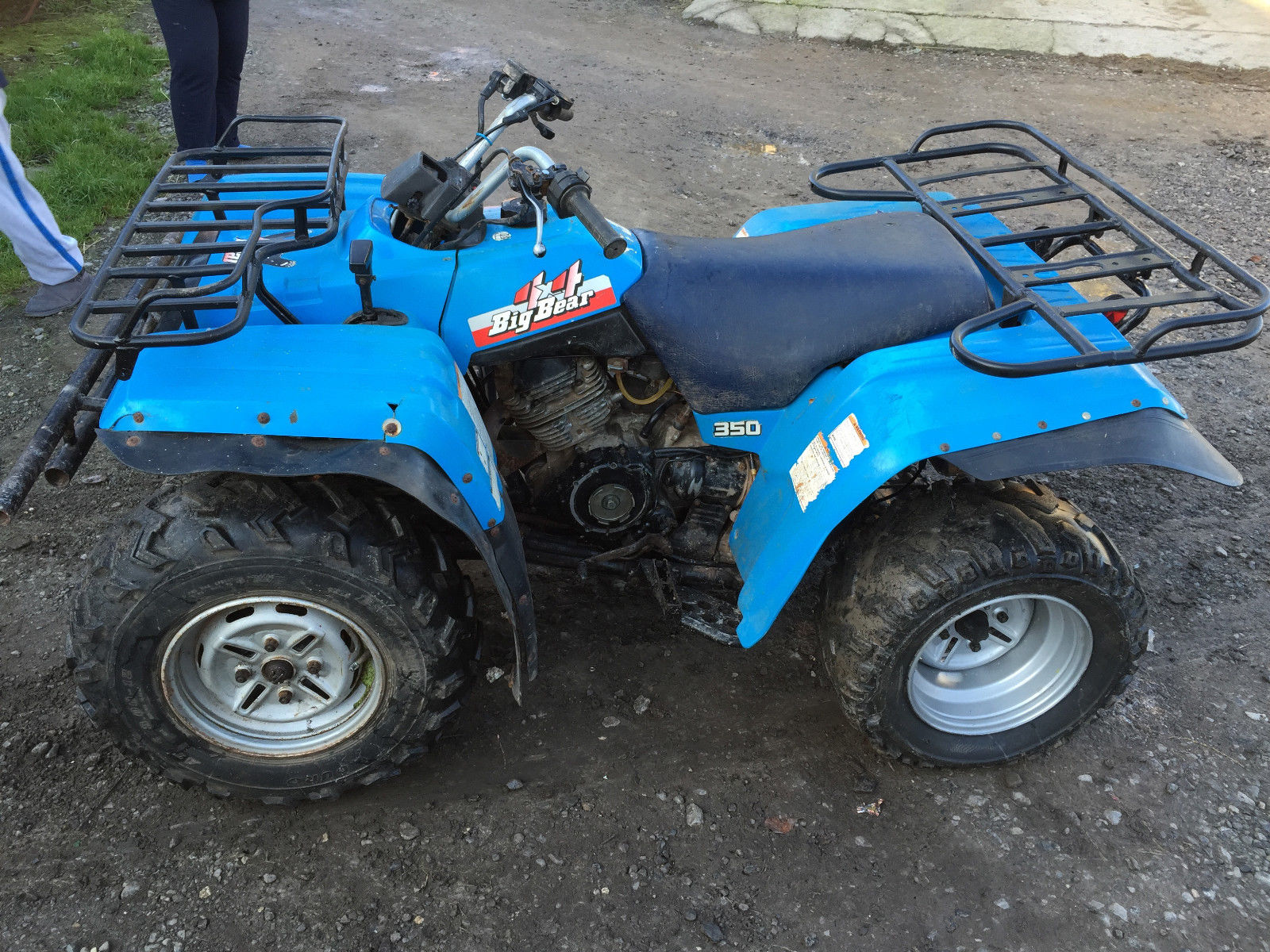yamaha big bear 350 4x4 spares or repair quad bike. Black Bedroom Furniture Sets. Home Design Ideas