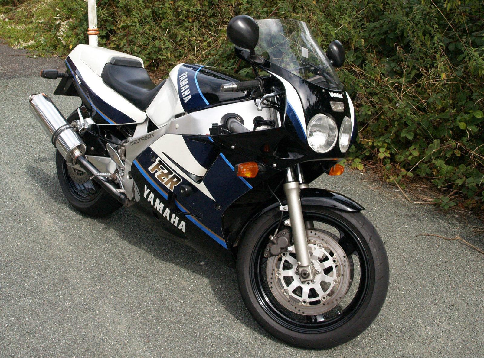 Yamaha Fzr1000 Exup 1989 Blue White
