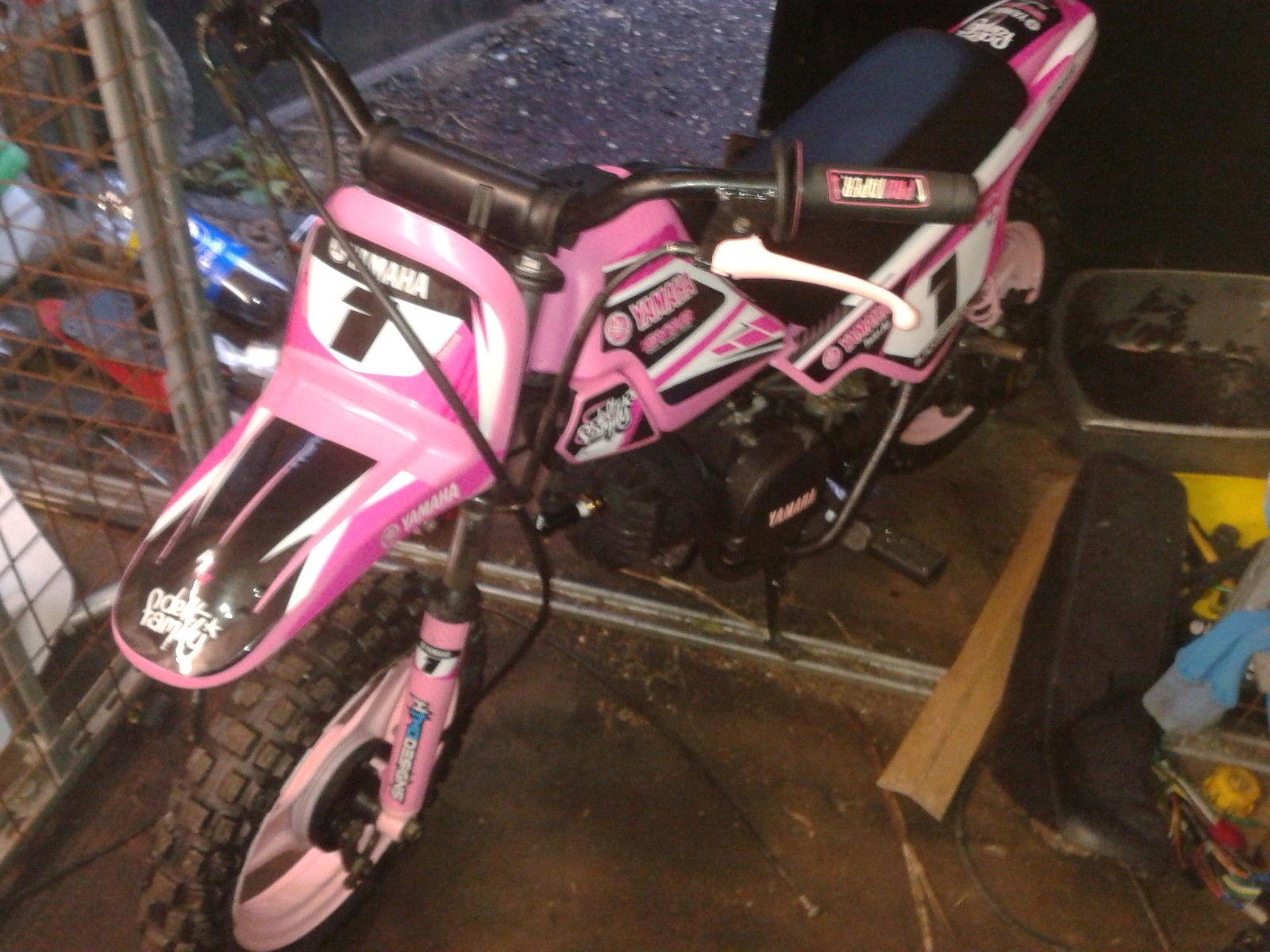 Yamaha Pw50 Pw 50 Pink Dirt Bike Kids Motorbike Honda