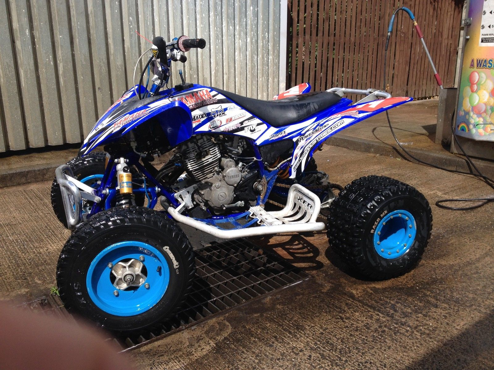 yamaha raptor 250 race prepared quad bike