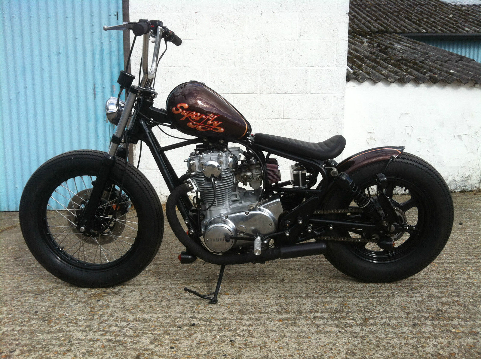 Yamaha Xs650 Bratstyle Bobber New Pro Build By Jones Customs Not Harley Hardtail