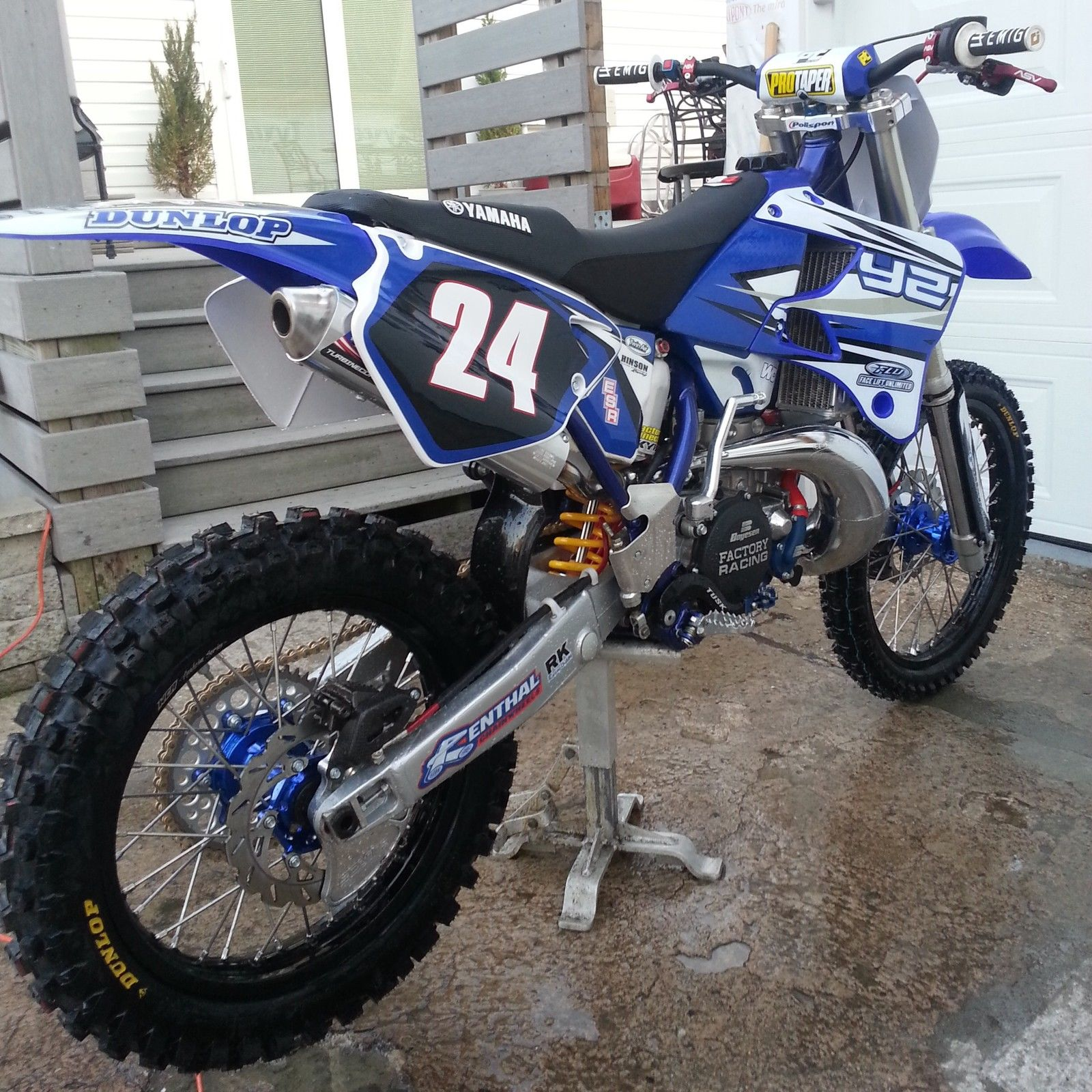 Yamaha yz 250 345 cc custom build for Yz yamaha 250