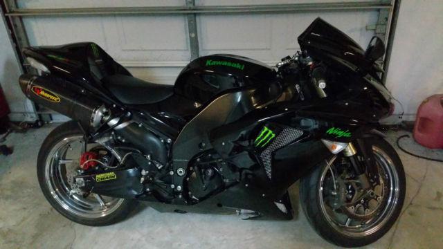 Zx10r Ninja 1000 Monster Akrapovich Black Chrome Custom Hid